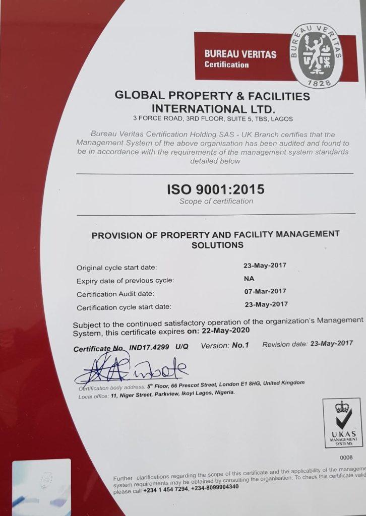About us global pfi limited - Bureau veritas head office ...